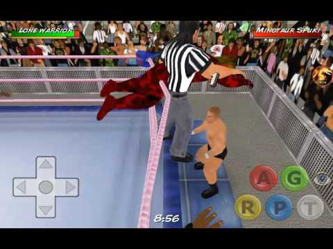 How to do suicide dive in wrestling revolution 3d