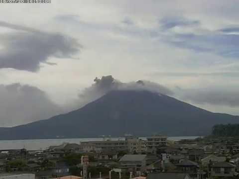 20/7/2018 - Mt Sakurajima 桜島 TimeLapse C4