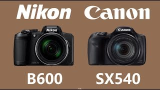 Nikon COOLPIX B600 vs Canon PowerShot SX540 HS