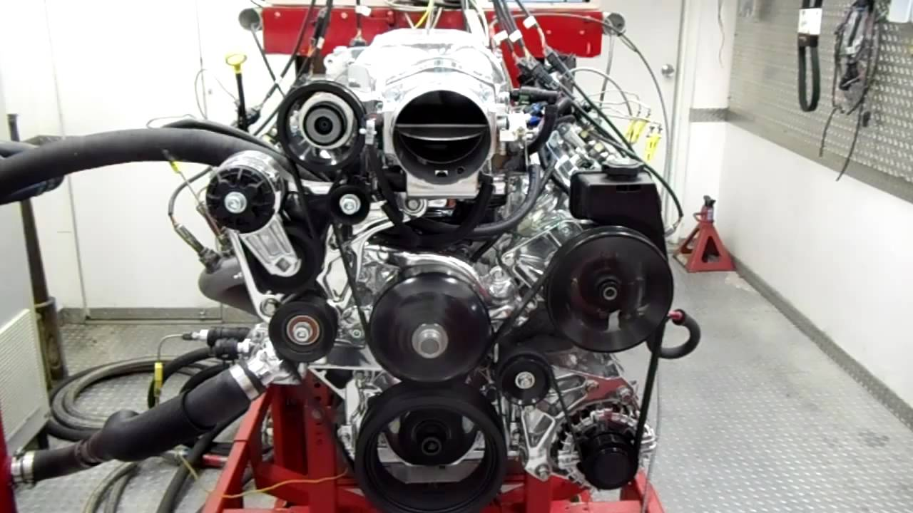Whipple Charged Ls Engine On Dyno Youtube