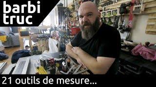 21 outils de mesure: mètres, équerres, compas, etc... - barbiTruc