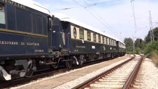 "VS "" Orient Express "" departure from Ruse, Bulgaria with 2 locos/""Ориент Експрес"" заминава от Русе"