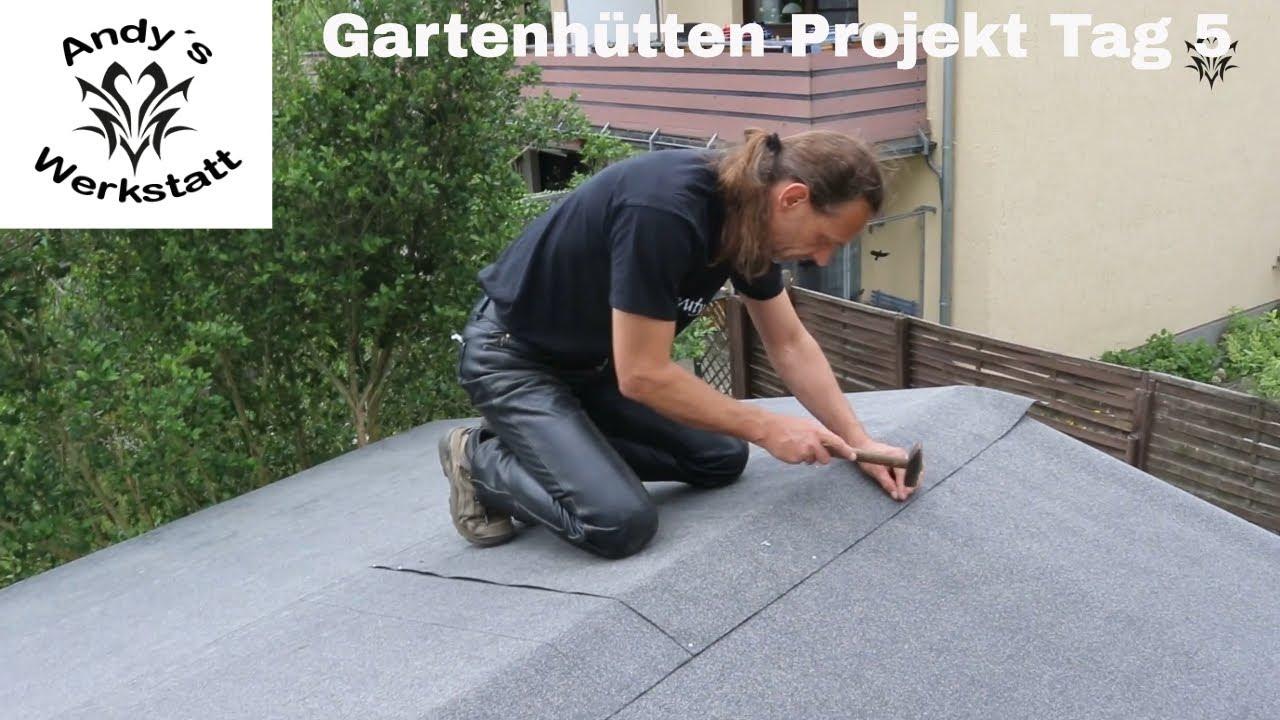Gartenhütten projekt teil #6 dach dacherweiterung schindeln