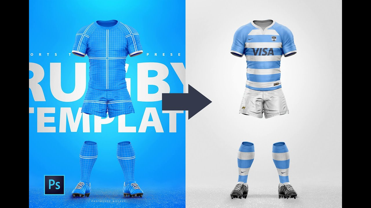 How To Use A Rugby Uniform Photoshop Template To Design