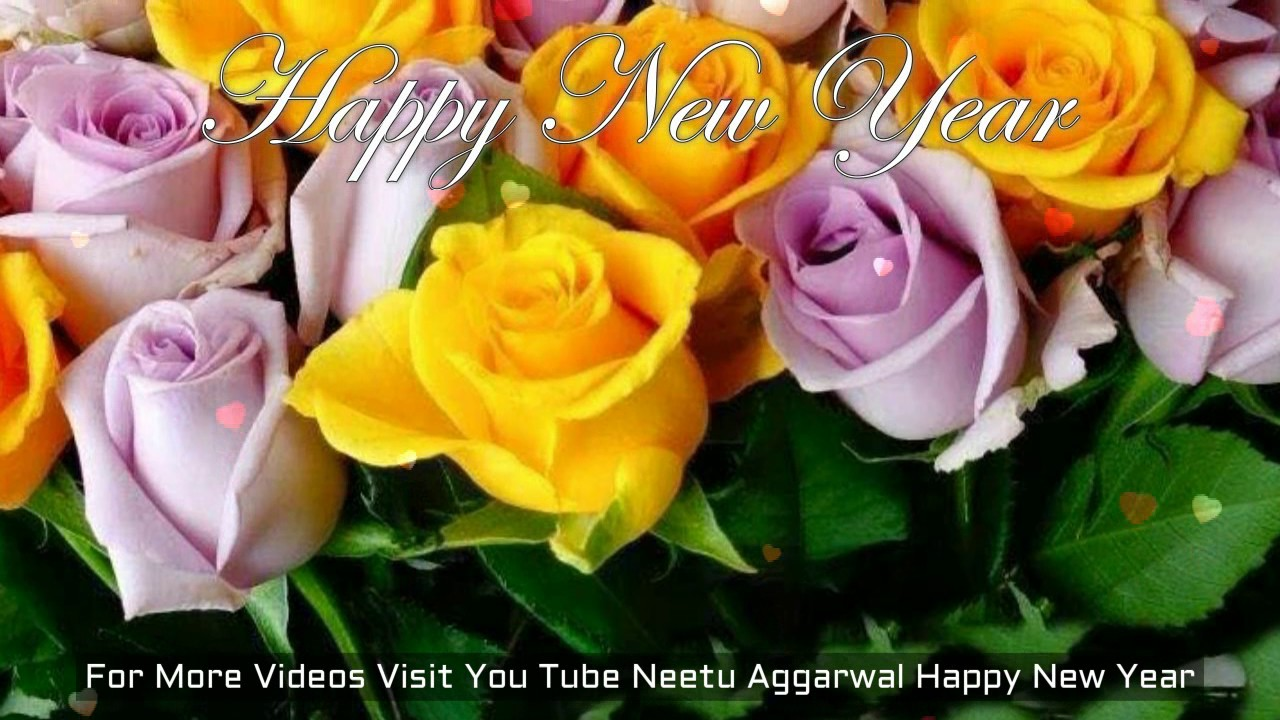 New Year Flowers For You Happy New Year  Wishes Greetings Sms Quotes     New Year Flowers For You Happy New Year   Wishes Greetings Sms Quotes Wallpapers   YouTube
