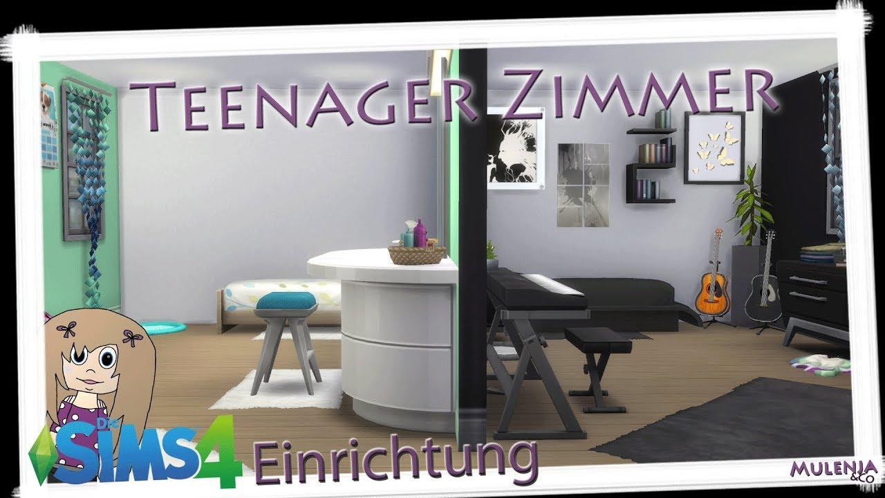 Die Sims 4 Speedbuild - Teenager Zimmer / Einrichten mit Emmi - YouTube