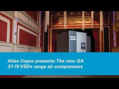 Atlas Copco presents: The new GA 37-75 VSD+ range air compressors