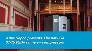 atlas copco presents the new ga 37 75 vsd range air compressors