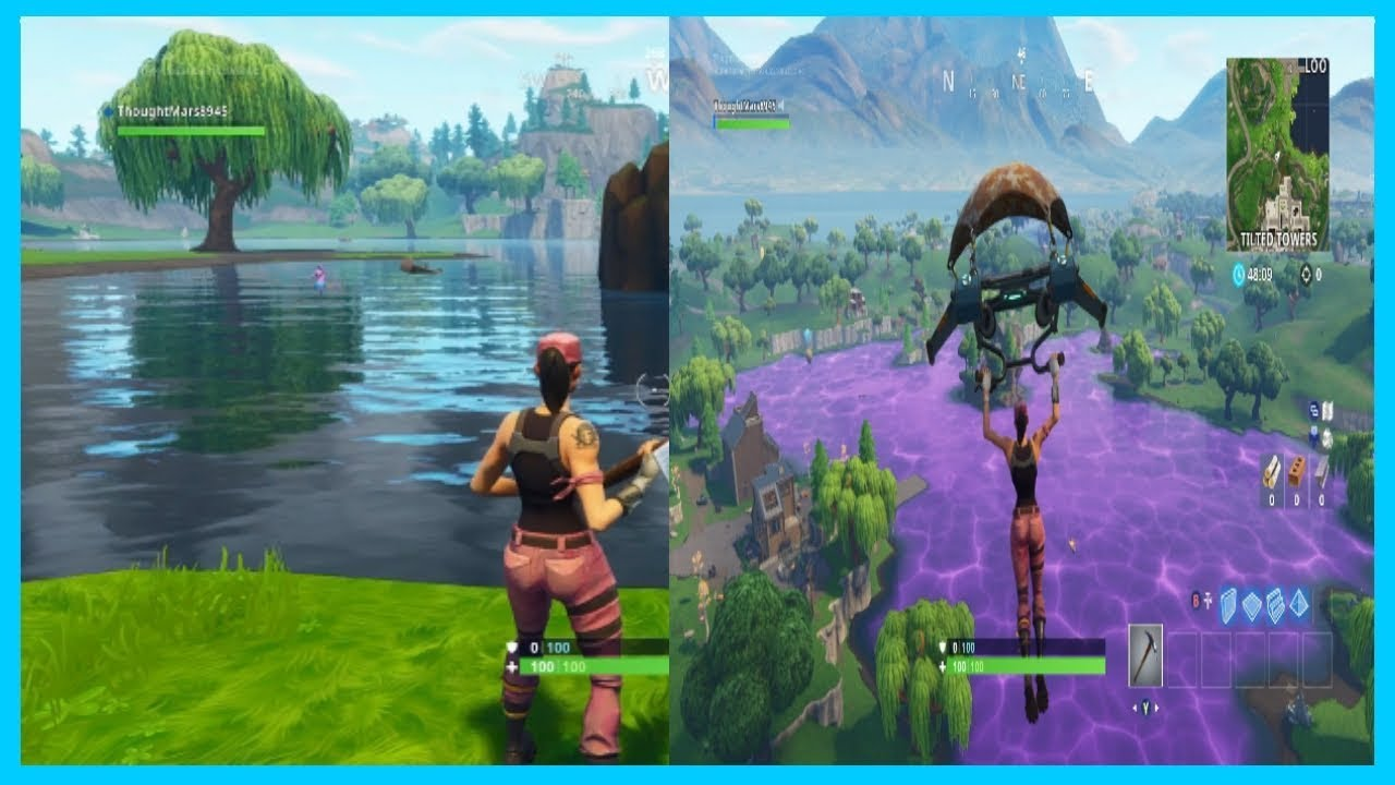 fortnite loot lake before and after - before and after fortnite