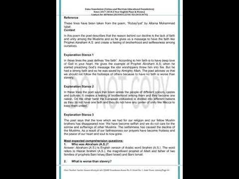 Notes of Plays and Poems 1st Year English prepared by Sir Azeem Afrasiyab  Adv
