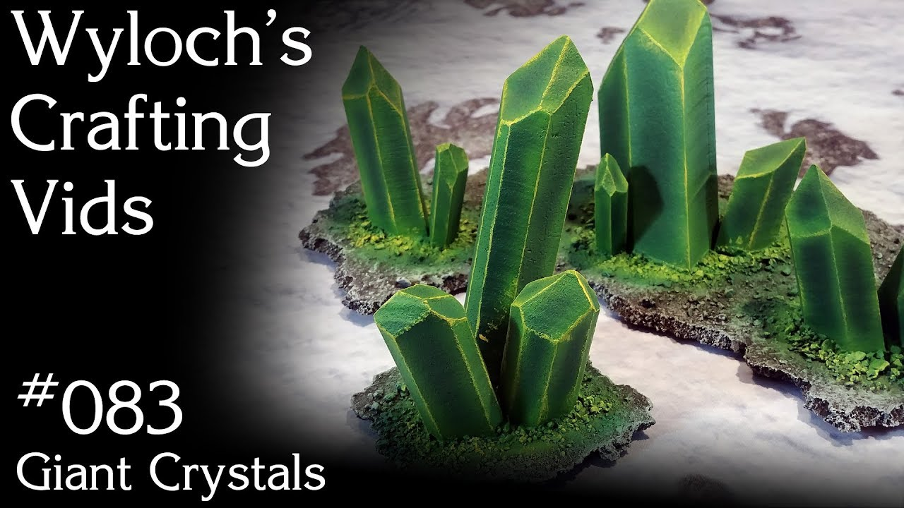 How to Make Giant Necron Crystals for Warhammer, Dungeons & Dragons Terrain  (WCV 083) by Wyloch's Armory