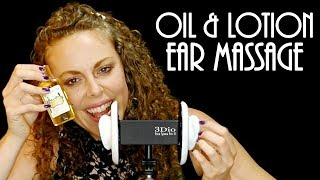 Deeply Relaxing ASMR Oil and Lotion 3Dio Ear Massage Time with Corrina Rachel