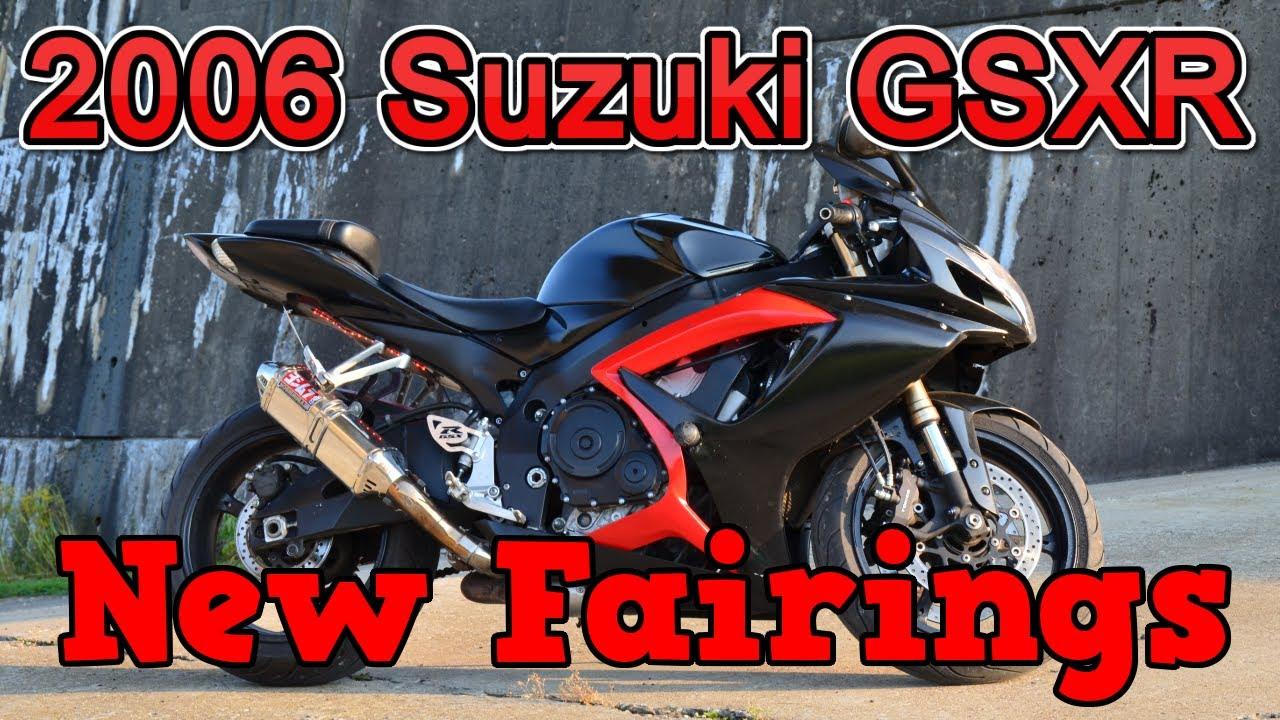 2006 suzuki gsxr installing new fairings [ 1280 x 720 Pixel ]