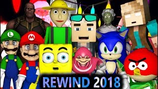MINECRAFT YOUTUBE REWIND 2018! (Animation) Sonic, Mario, Angry Birds, Granny, Baldi, Spongebob