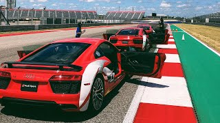 150MPH IN AN AUDI R8 V10 Plus ON AN F1 TRACK! (Audi Driving Experience)