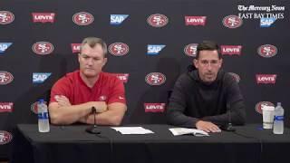 San Francisco 49ers' John Lynch and Kyle Shanahan Q & A at press conference