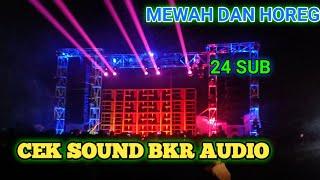 CEK SOUND BKR AUDIO 24 SUB & FULL LIGHTING MEWAH SUPER HOREG