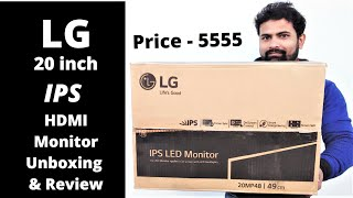 LG 20 Inch IPS LED Monitor 20MP48HB Unboxing And Review SET-UP in Hindi Cheapestmonitor LG