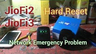 Hard Reset JioFi 3 / JioFi 2   No Network   Emergency Problem   Password Forget