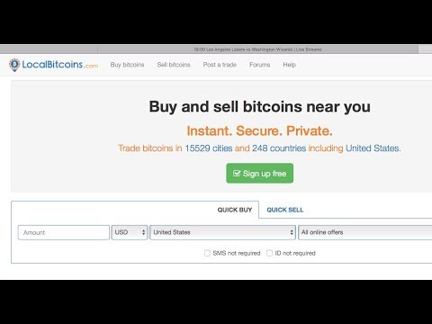 LOCALBITCOINS.COM: How To Open A Wallet, Send, Receive; And Buy Bitcoin