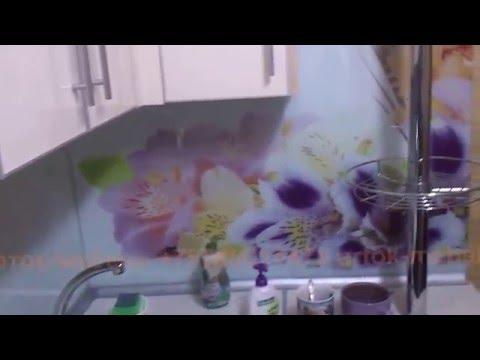 Кухня баклажан ваниль фотофартук алюм планки