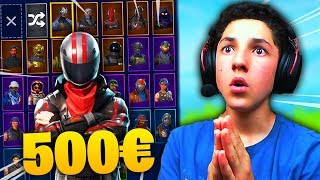 I MONTRE MY CASIER AT 500 euros (30 SKINS) ON FORTNITE BR !!!