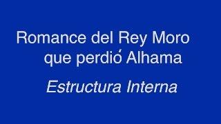 Romance del Rey Moro que perdió Alhama - Estructura Interna