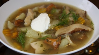 Суп с ВЕШЕНКАМИ и ЛУКОМ ПОРЕЙ!!!  (безумно вкусно)