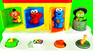 sesame street pop up pals surprise eggs baby toys   learn colors with ernie elmo cookie monster