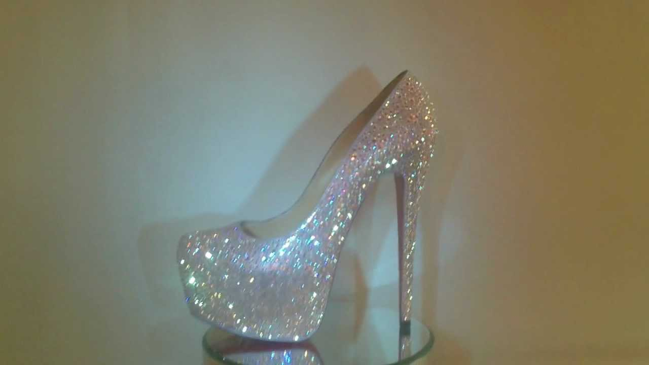 993ad75f4e8 Crystalize My Couture - Christian Louboutin Strassed Lady Peep Daffodile  Crystal AB