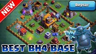 New BEST BH4 Base w/Replays | Builder Hall 4 Versus Mode Base with Proof - Clash of Clans [CoC]