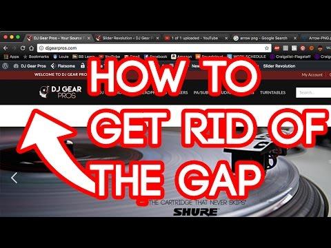 Get Rid Of The Gap Above Slider Revolution Image - Wordpress Tutorial