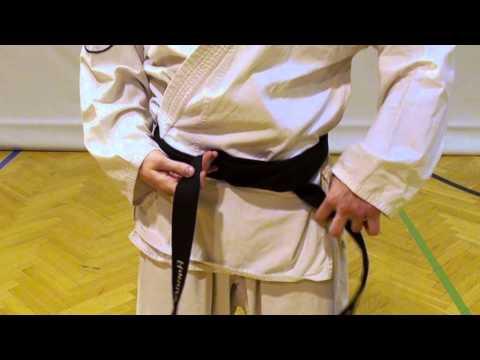 Wie binde ich den Taekwon-Do Gürtel