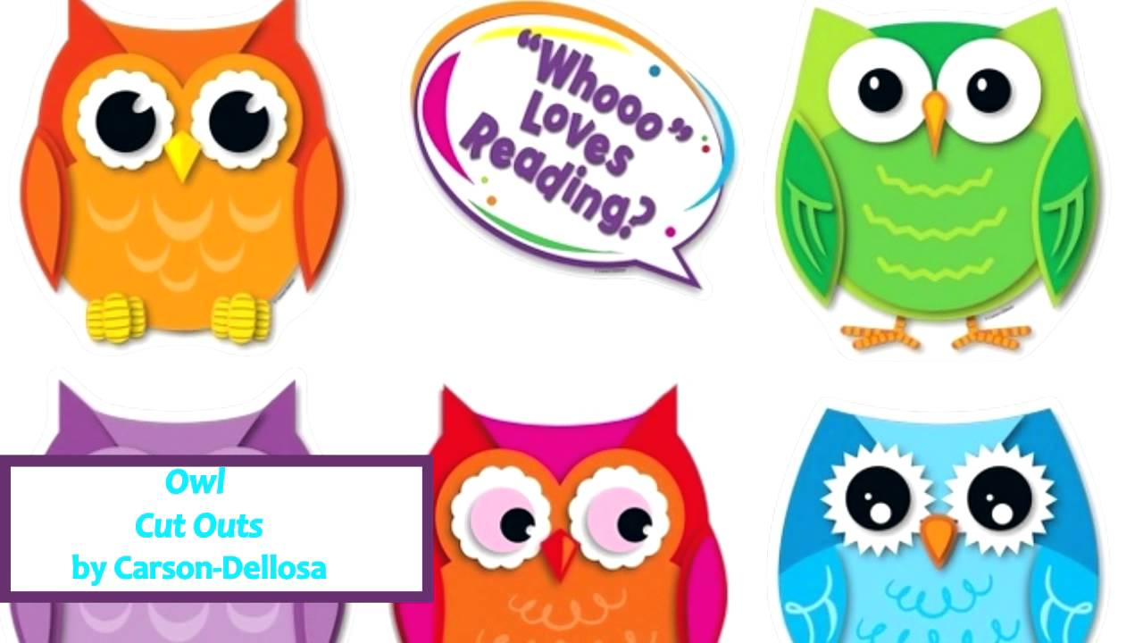 owl cut outs set by carson dellosa 120092 youtube
