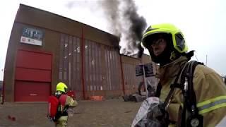 Brandweer P1 Grote dakbrand, Rotterdam