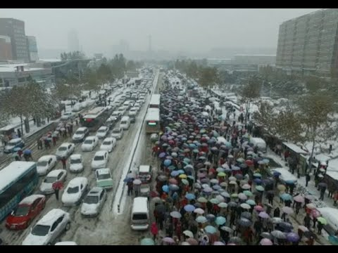 Snowstorm Batters Central China