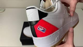 Nike Air Force 1 Low NBA White Crimson Review!