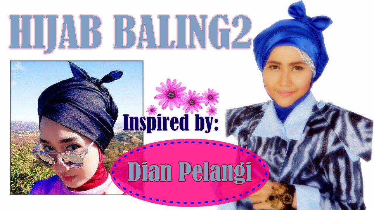 Tutorial Hijab Baling Baling Dian Pelangi Segi Empat 61 YouTube