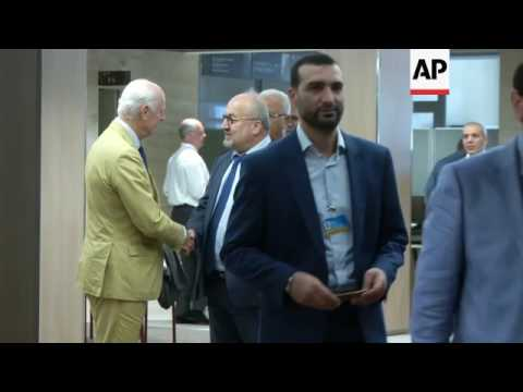 Arrivals, roundtable, at Syria talks in Geneva