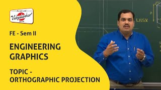 vuclip Engineering Graphics | Orthographic Projection lecture | Vidyalankar Classes