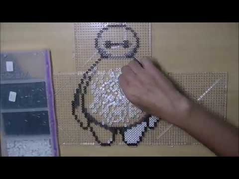 TimeLapse Pixel Art Baymax with Perler Beads