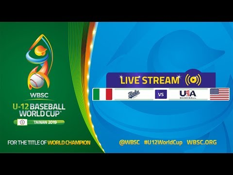 Italy v USA - U-12 Baseball World Cup 2019 - Opening Round