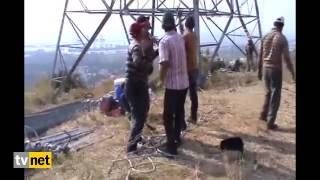 Enerji nakil hatlarının örümcek adamları