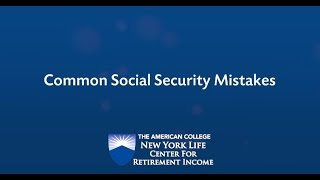 Retirement Income Planning and Most Common Social Security Questions