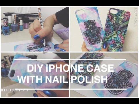 timeless design 38439 8acbb DIY iPhone case with nail polish - YouTube