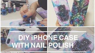 DIY iPhone case with nail polish