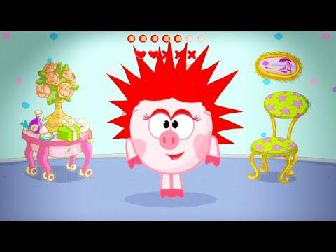 Играем в СМЕШАРИКИ ЖЕЛАНИЕ Приключения Нюши Smeshariki Games Интерактивный мультфильм Свинка Нюша