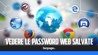 Come vedere le password salvate dei siti web