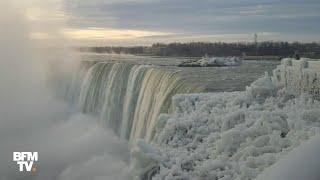 Plongez dans le froid et admirez les chutes du Niagara complètement gelées
