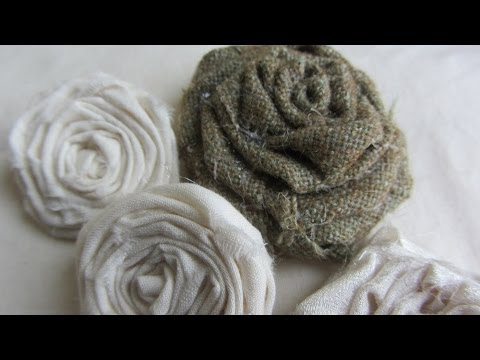 How To Make Adorable Vintage Shabby Chic Rolled Fabric Roses Tutorial